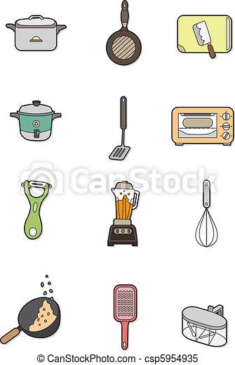 Vecteur clipart de dessin anim cuisine l ment - Dessin anime de cuisine ...