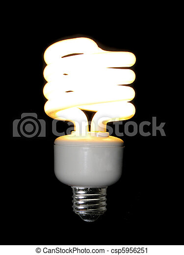 lit compact fluorescent light bulb - csp5956251