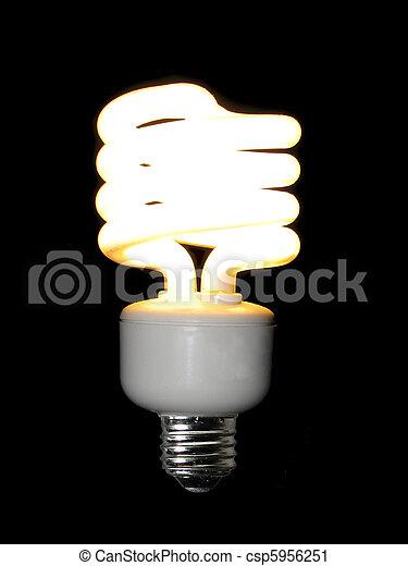 lit compact fluorescent light bulb - csp5956251