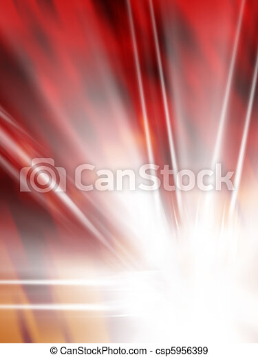 background illustration in red with white star flame - csp5956399