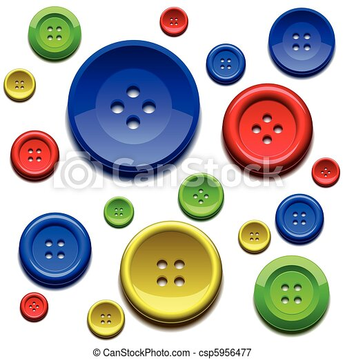 Sewing color buttons - csp5956477
