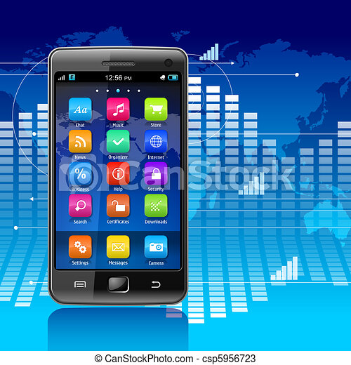 Global communications and mobility concept - csp5956723