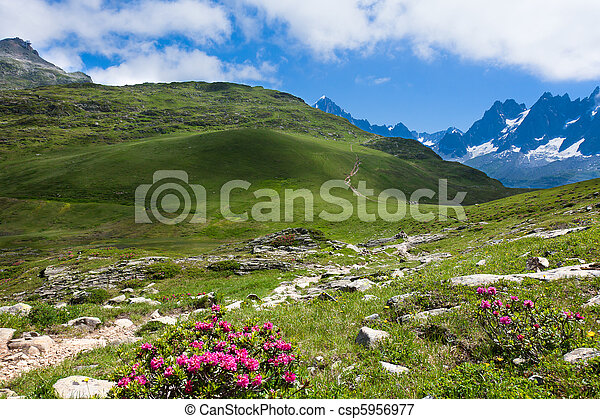 A beautiful view of the french alps   - csp5956977
