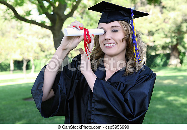Pretty Graduation Woman - csp5956990