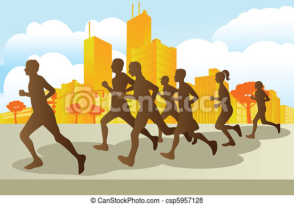 Marathon runners - csp5957128