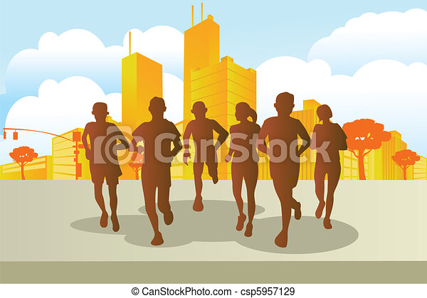Marathon runners - csp5957129