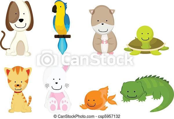 Pets cartoon - csp5957132
