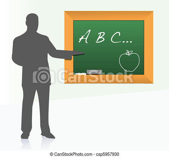 school teacher class illustration - csp5957930