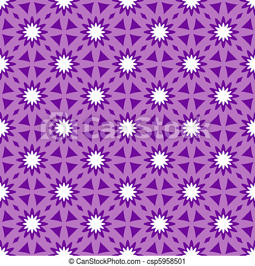 Repeating floral ornament - csp5958501