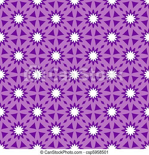 Repeating floral ornament - csp5958501