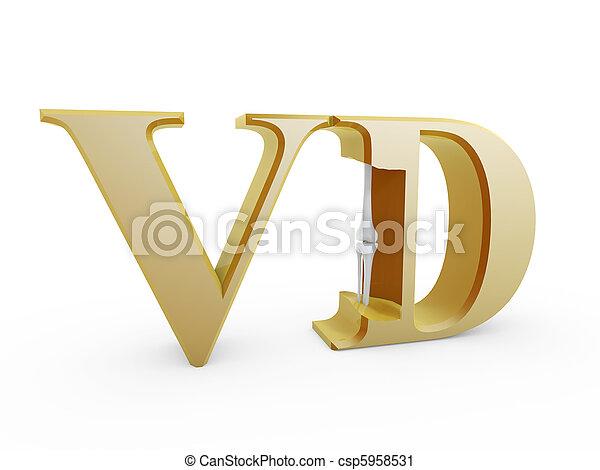 bones inside Vitamin D - csp5958531