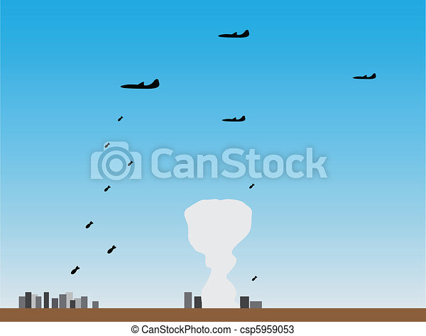 Planes put bombing attack - csp5959053
