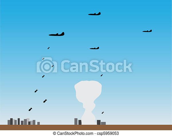 Planes put bombing attack - csp5959053