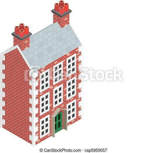 Isometric House Drawings Isometric Dolls House Drawing