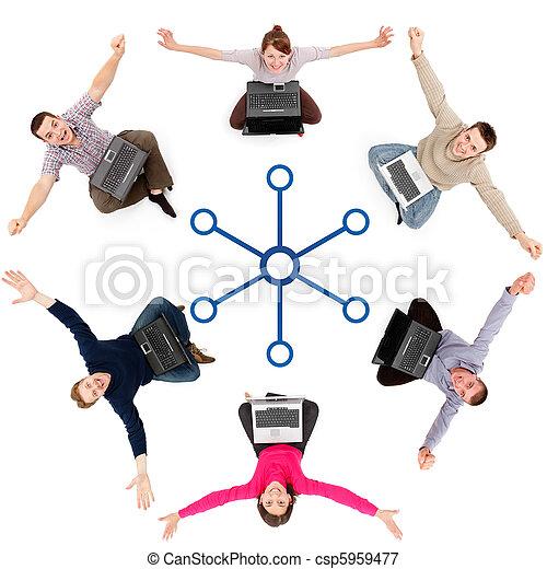 Social network members - csp5959477