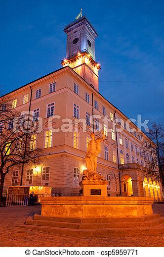 Lviv City Hall - csp5959771