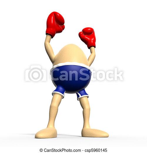 Egg boxing - biggest winner - csp5960145