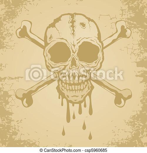Skull and crossbones - csp5960685