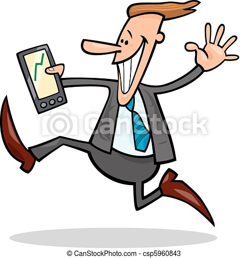businessman happy for share rises - csp5960843