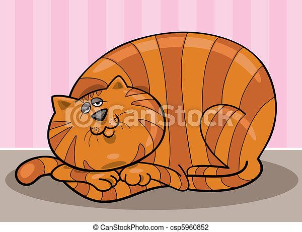 Fat cat - csp5960852