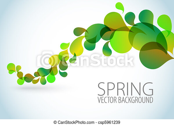 Spring Abstract floral background - csp5961239