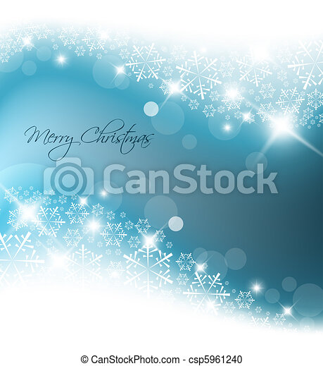 Light blue abstract Christmas background - csp5961240