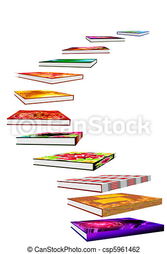 staircase of books - csp5961462