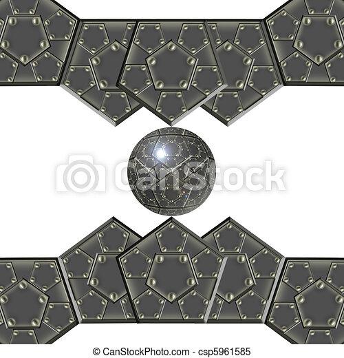 metallic armor plates - csp5961585