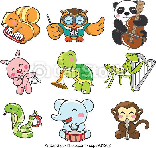 animal play music  - csp5961982