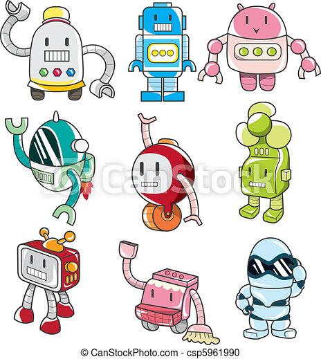 cartoon robot - csp5961990