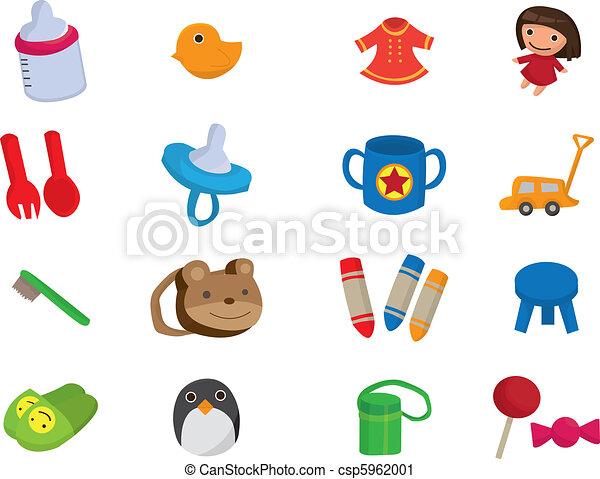 baby toy cartoon element  - csp5962001