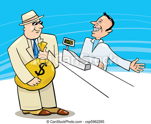 Businessman in Shop - csp5962265