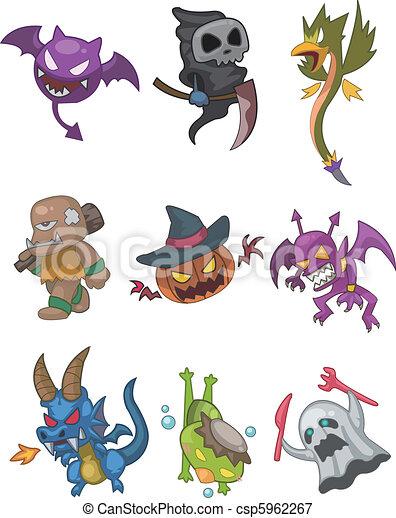 monster doodle - csp5962267