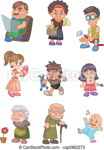 cartoon family  - csp5962273