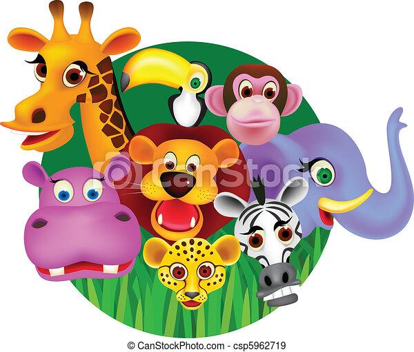 EPS Vectors Of Vector Wild Animal Cartoon Csp5962719