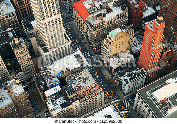 New York City Manhattan street - csp5962880