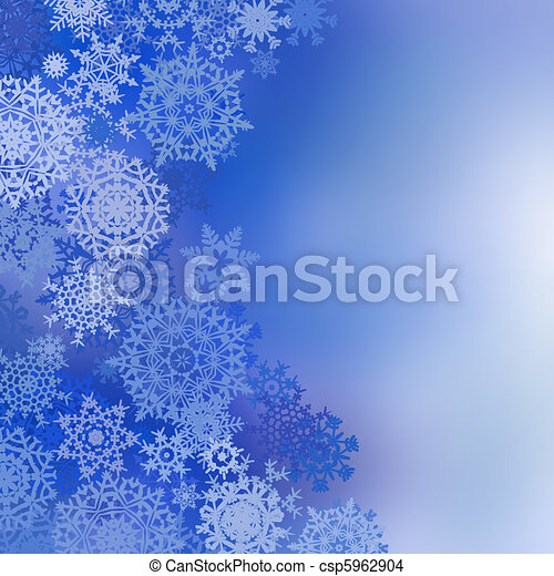 Blue christmas background with snowflakes. EPS 8 - csp5962904