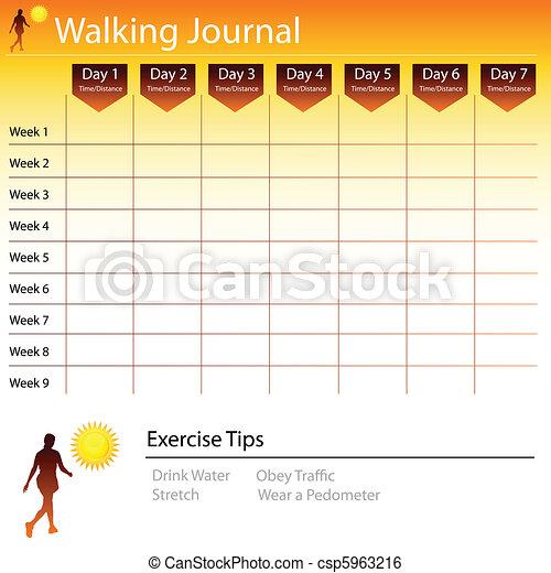 Walking Journal Chart - csp5963216