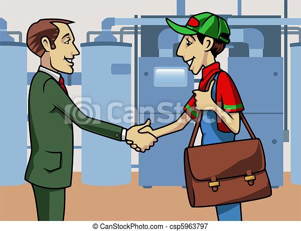 Customer and technician - csp5963797
