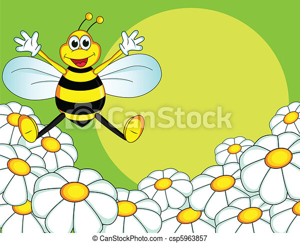 bee cartoon - csp5963857