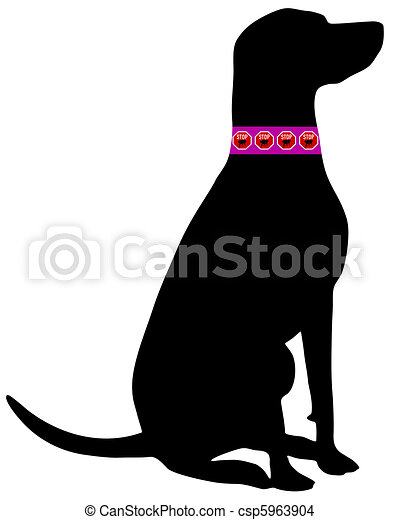 Dog flea collar - csp5963904