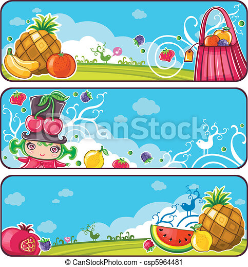 Fruity banners - csp5964481