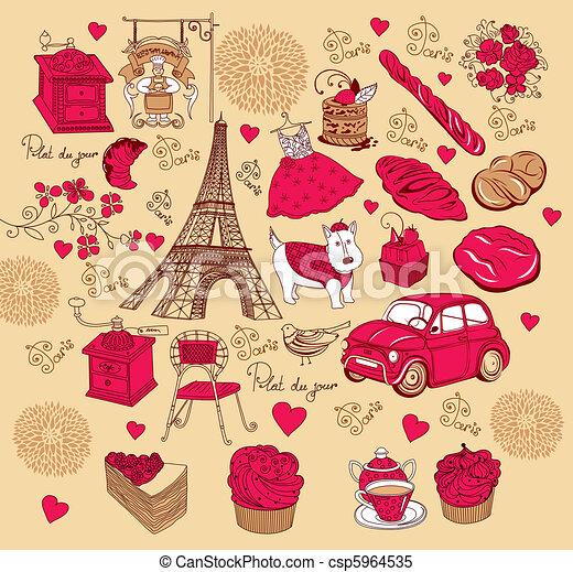 Set symbols of Paris - csp5964535