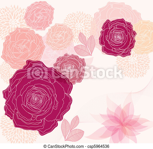 Floral background - csp5964536