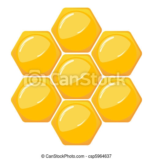 Vectors Illustration Of Honeycomb Pattern Isolated On White Csp5964637