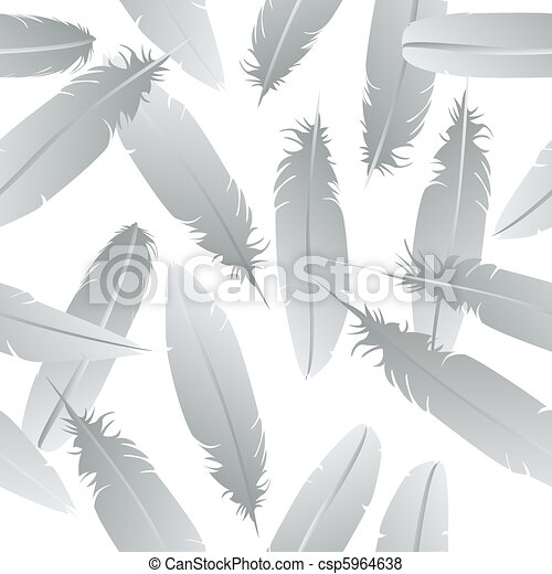 Seamless feathers pattern - csp5964638