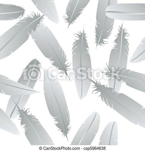 Seamless feathers pattern  - csp5964638