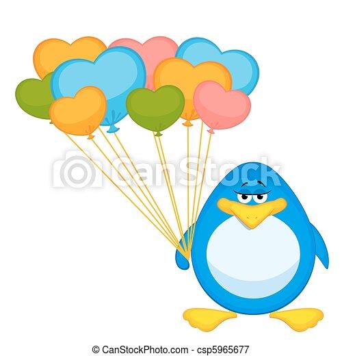 cartoon penguin  - csp5965677