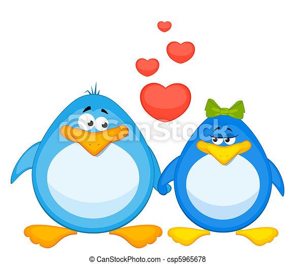 cartoon penguin  - csp5965678