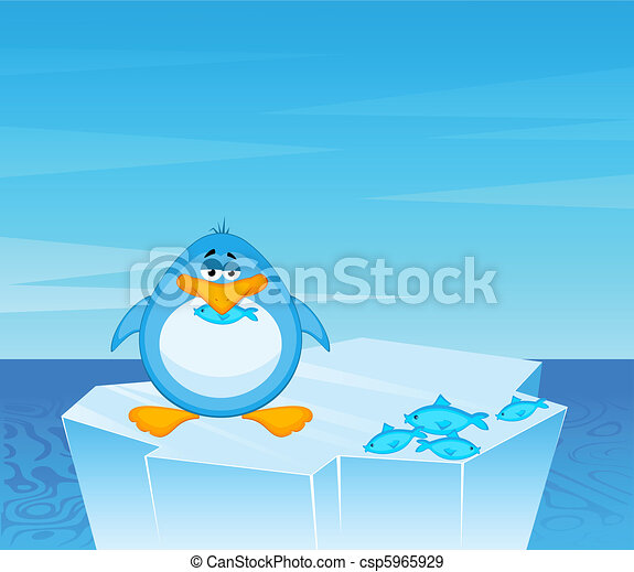 cartoon penguin - csp5965929